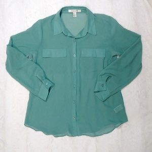 4 for $20 Sheer Button Down Blouse